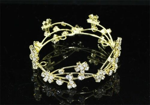 DELIGHTFUL FULL CIRCLE MINI CROWN IN GOLDTONE CASTING WITH AUSTRIAN CRYSTALS