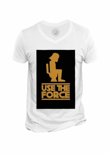 T-shirt Homme Col V Humour Star War Use The Force