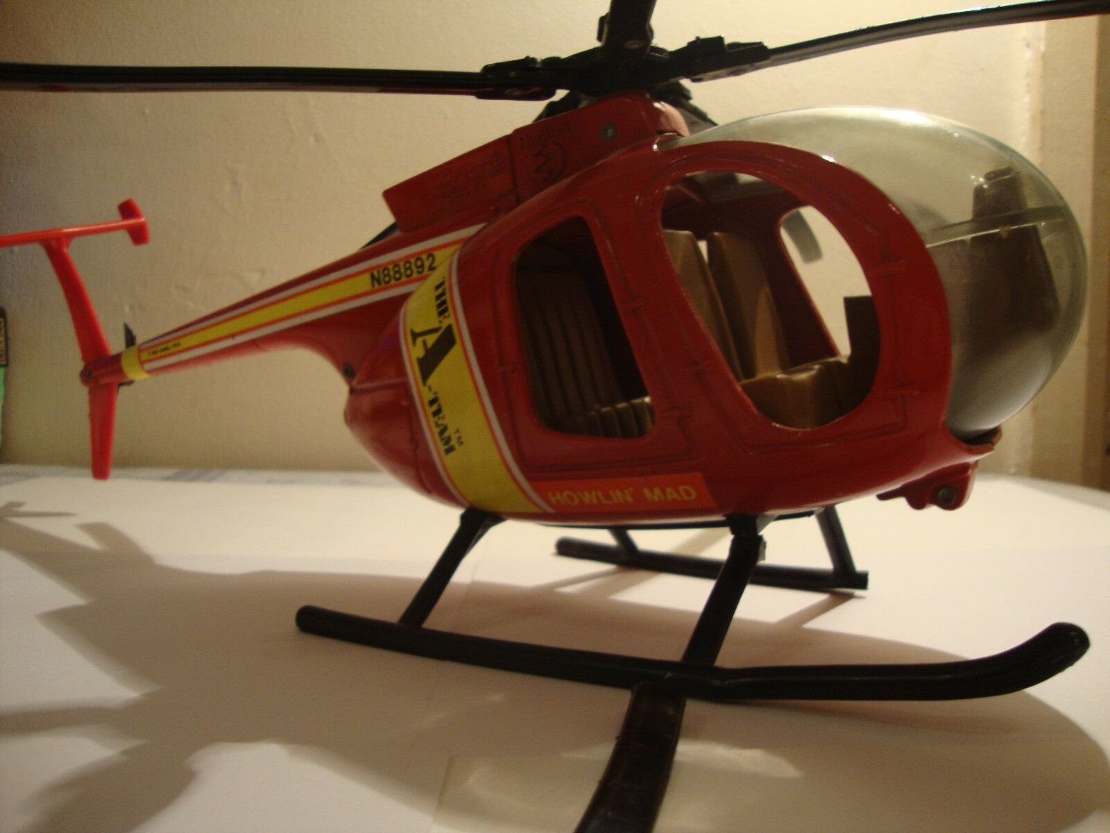 A Team Die-Cast Howling Mad Murdock Helicopter action playset spares or repairs.