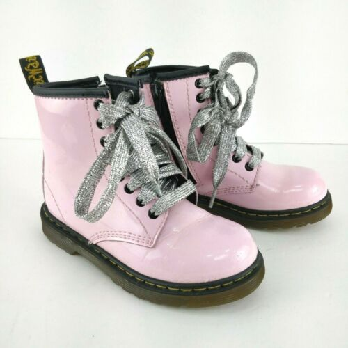 DR DOC MARTINS GIRLS Size US-11 Delaney Pink Boots