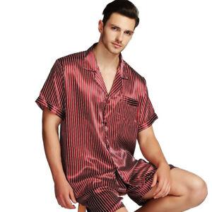 Mens Silk Satin Pajamas Pajama Set Sleepwear Set Loungewear Plus S ... 6c2ad86c7
