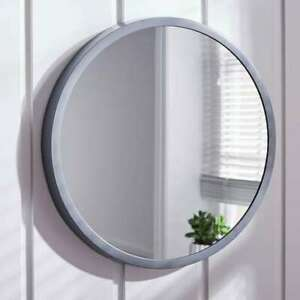 Details about Grey Round Large Bedroom Bathroom Wall Mirror Simply Elegant  55CM Contemporary