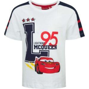 Disney Pixar Cars Kurzarmshirt Kinder Jungen T-Shirt Shirt Weiß 98 – 128 Sommer
