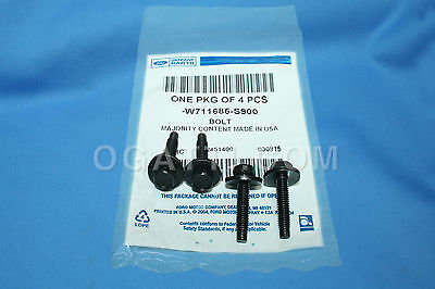NEW OEM SET OF 4 M6 X 18 MM RADIATOR GRILLE BOLTS 2007-2014 FORD W-711685-S900