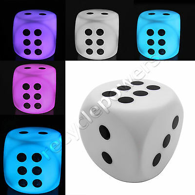 Color Changing Dice Mini LED Cube Light Lamp For House Party Decor Game Toy