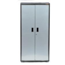 Metal Garage Storage Cabinet Tool Box Steel Chemical Wall Locker 6 Ft Shelves