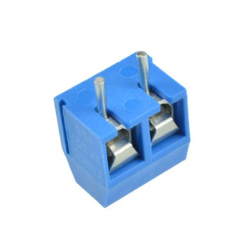 10//50PCSTerminal Connector Terminal Block 5.08mm Screw 2//3 way Pin KF301 BBC