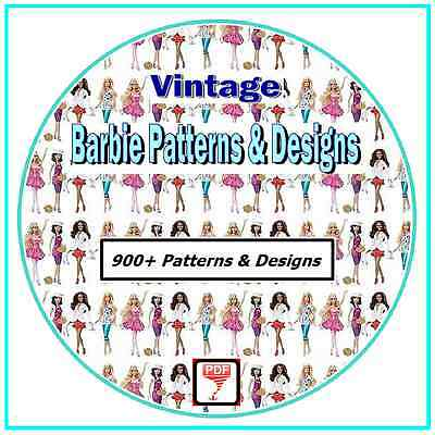 Make Your Own Barbie Clothes - More Than 900 Vintage Patterns on CD