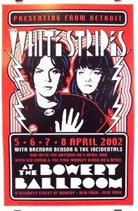 White-Stripes-Bowery-Ballroom-Art-by-Dennis-Loren-Orig-2002-Poster