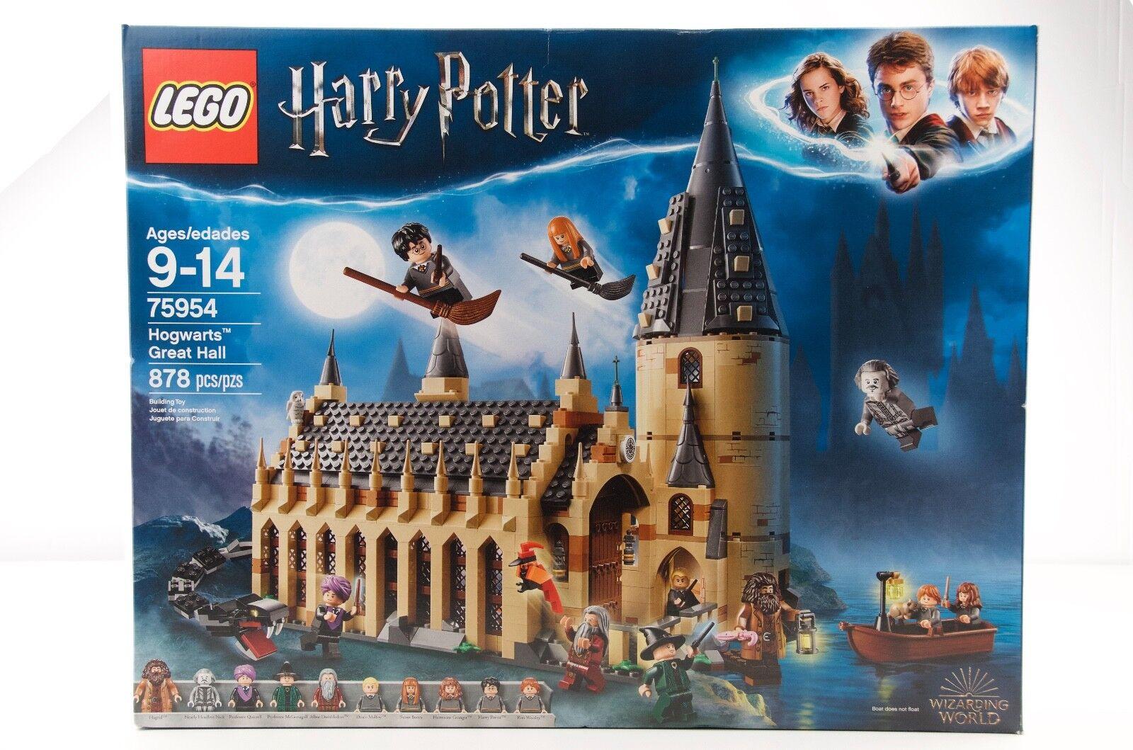 Lego, Harry Potter, 75954, gran Salón de Hogwarts, 878 piezas, edades 9 y arriba, nuevo En Caja