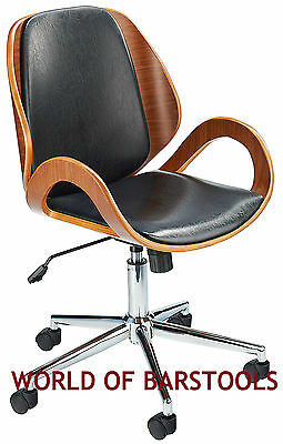 """""""OXFORD"""" OFFICE CHAIR IN BLACK AND WALNUT"""