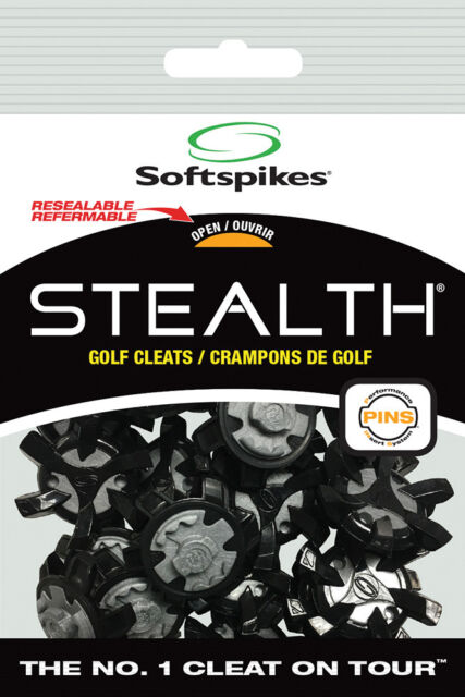 12a4599576ce39 Softspikes Stealth Pins Golf Cleats 20 Ct. Kit for sale online   eBay