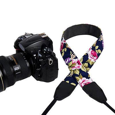 Floral Camera Sling Neck Shoulder Strap Belt Vintage for Canon SLR DSLR