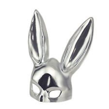 Silver Halloween Masquerade Bunny Rabbit Adult Mask Costume Theater Accesorie