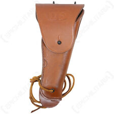 US M1916 Colt Pistol Holster - Light Brown Repro WW2 Gun Carrier Holder Bag Army