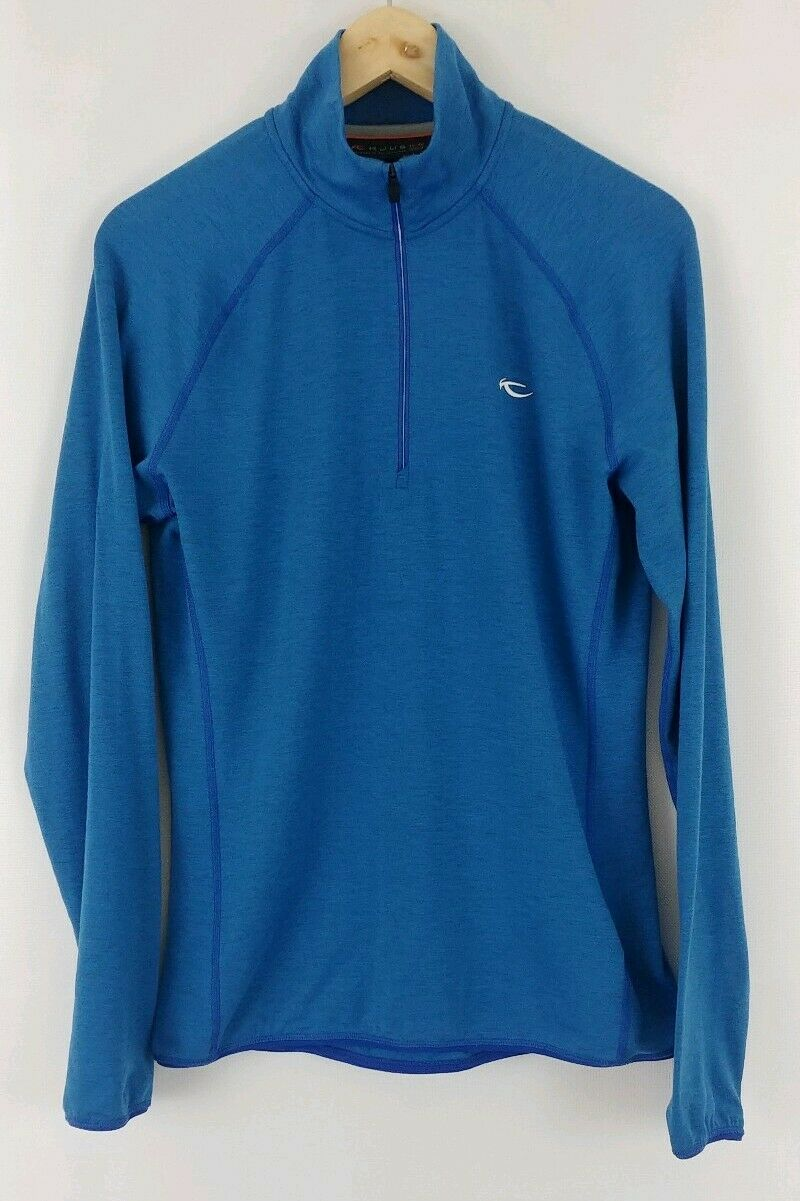 EUC Kjus  50 Trace Half Zip Shirt Top Long Sleeve bluee Free Ship Mens  save up to 50%