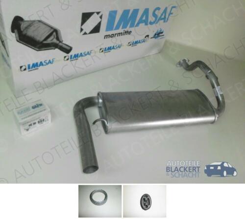 Zubehör für Honda CRX II+Civic III 1.6 i Vtec 1989-1992 IMASAF Auspuff Endtopf