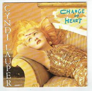 Cyndi-LAUPER-Vinyle-45T-7-034-CHANGE-OF-HEART-WITNESS-PORTRAIT-EPIC-650201-RARE