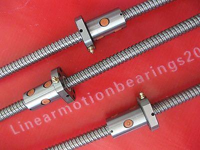 3 Anti backlash Lead screw ballscrew 1610-350/800/1350mm-C7 with Ballnut