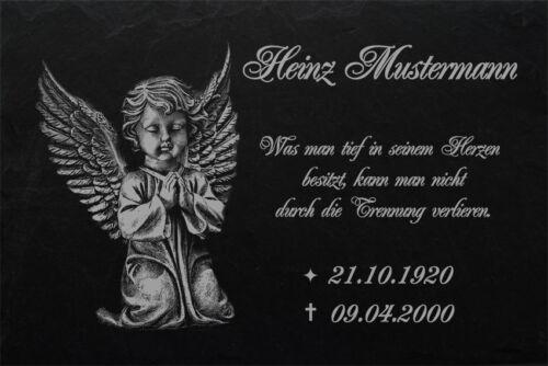 Gedenktafel Grabplatte Grabschmuck Gedenkplatte Engel Grabstein-032 ► 20 x 15 cm