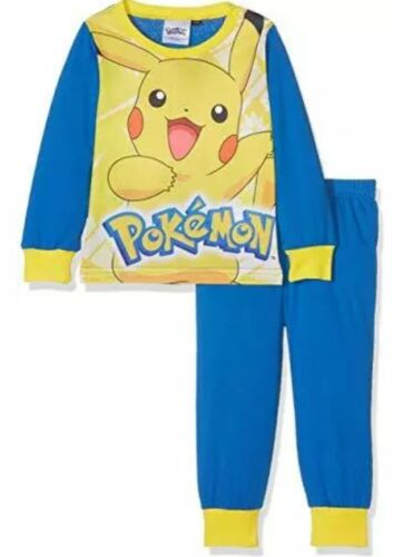 Pokemon Pikachu Boys Full Length Pyjamas Age 1.5-2 Years