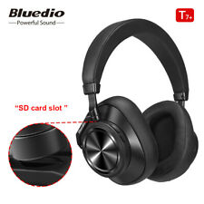 Bluetooth Headphones Bluedio T7Plus Wireless ANC Headset Support SD Card Slot