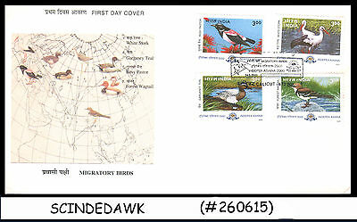 INDIA - 2000 MIGRATORY BIRDS INDEPEX ASIAN 2000 - 4V - FDC