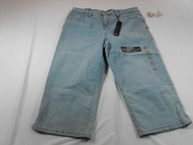 59634daeaa1 Women s Gloria Vanderbilt Amanda Skimmer Denim Capris Size 10p for sale  online