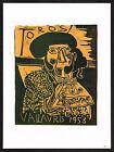 Vintage 1980's Pablo Picasso Toros Bullfighter Matador Poster Art Print