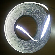 Silver Both Side Reflective Span Fabric Sew On Tape 15mm Hight Vis Reflective