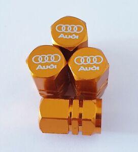 AUDI-LASER-Ruota-della-valvola-Polvere-Tappi-TUTTI-I-MODELLI-ORO-S-line-RS-S5-S3-RS3-RS4-RS5-RS6