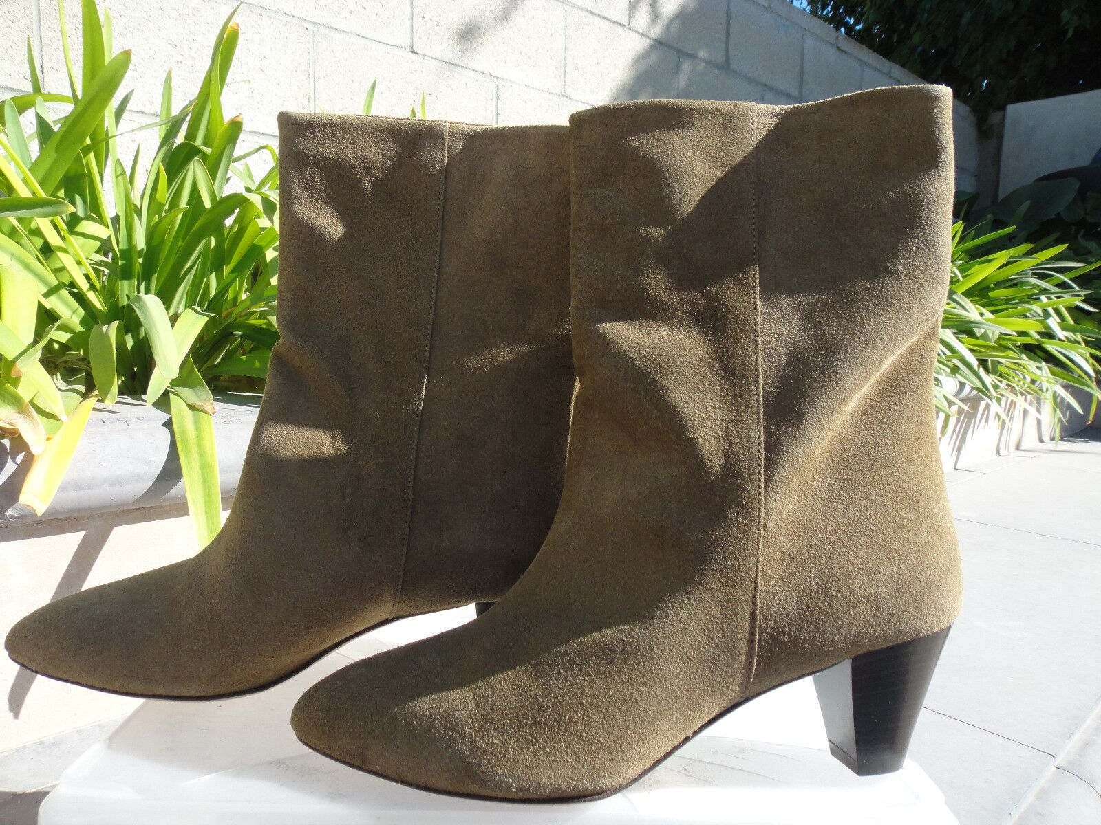 Isabel Marant DYNA, Suede, Heeled Boot Bootie, Pull-on, Portugal, Wmn's Sz EUR37