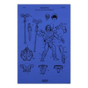 Mattel Creations Masters of the Universe Skeletor Diagram Poster MOTU SOLD OUT