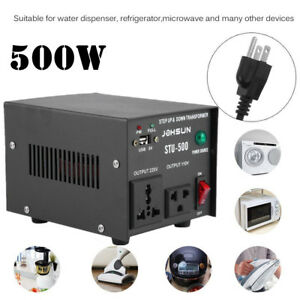 Image is loading 500W-Step-Up-Down-Voltage-Converter-Transformer-Adapter- cac8804c6117
