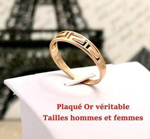 Bague anneau alliance en vrai plaqué OR neuf pour homme femme enfant 44 ou 66