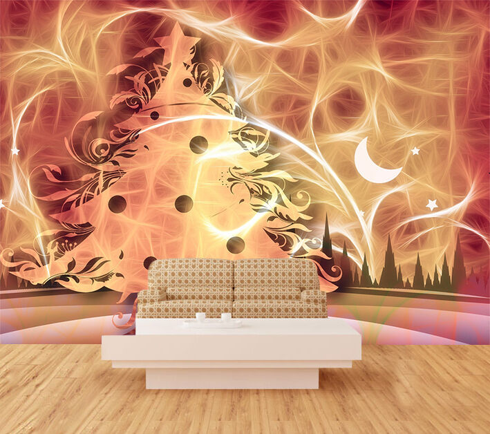 3D Unique Christmas tree WallPaper Murals Wall Print Decal Wall AJ WALLPAPER