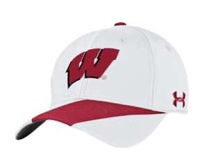 pretty nice 1bd65 745ee Image is loading H-T-NWT-Wisconsin-Badgers-College-Football-Adjustable-Under -