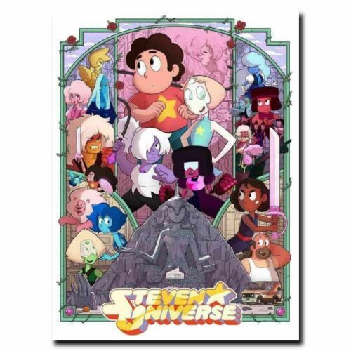 Steven Universe Anime Comic Cartoon TV Show 8x12 24x36 Hot Poster Y211