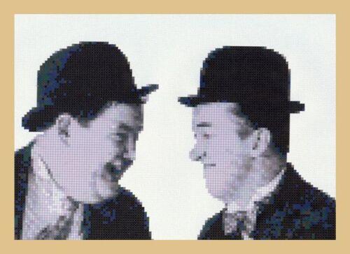 Laurel /& Hardy puntada cruzada contada Kit