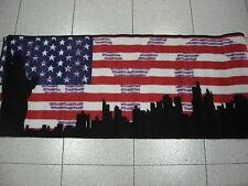Tappeto antiscivolo New York usa color nero cm 57x230 color beige rosso blu