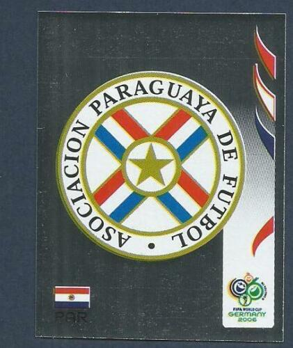 PANINI FIFA WORLD CUP-GERMANY 2006 #113-PARAGUAY TEAM BADGE-SILVER FOIL