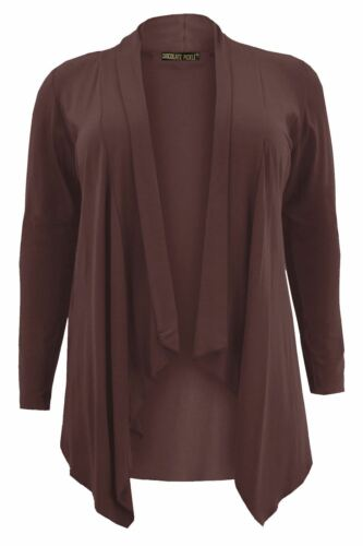 Ladies Waterfall Hanky Hem Jumbo Cardigans 16-26