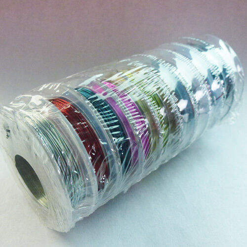 Q0009000 Wholesale 10 spool mixed color Tiger Tail Beading wire Cord 10mx0.3mm