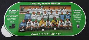 Fan-Aufkleber Sv Werder Bremen Portas Team Photo German Master 1988