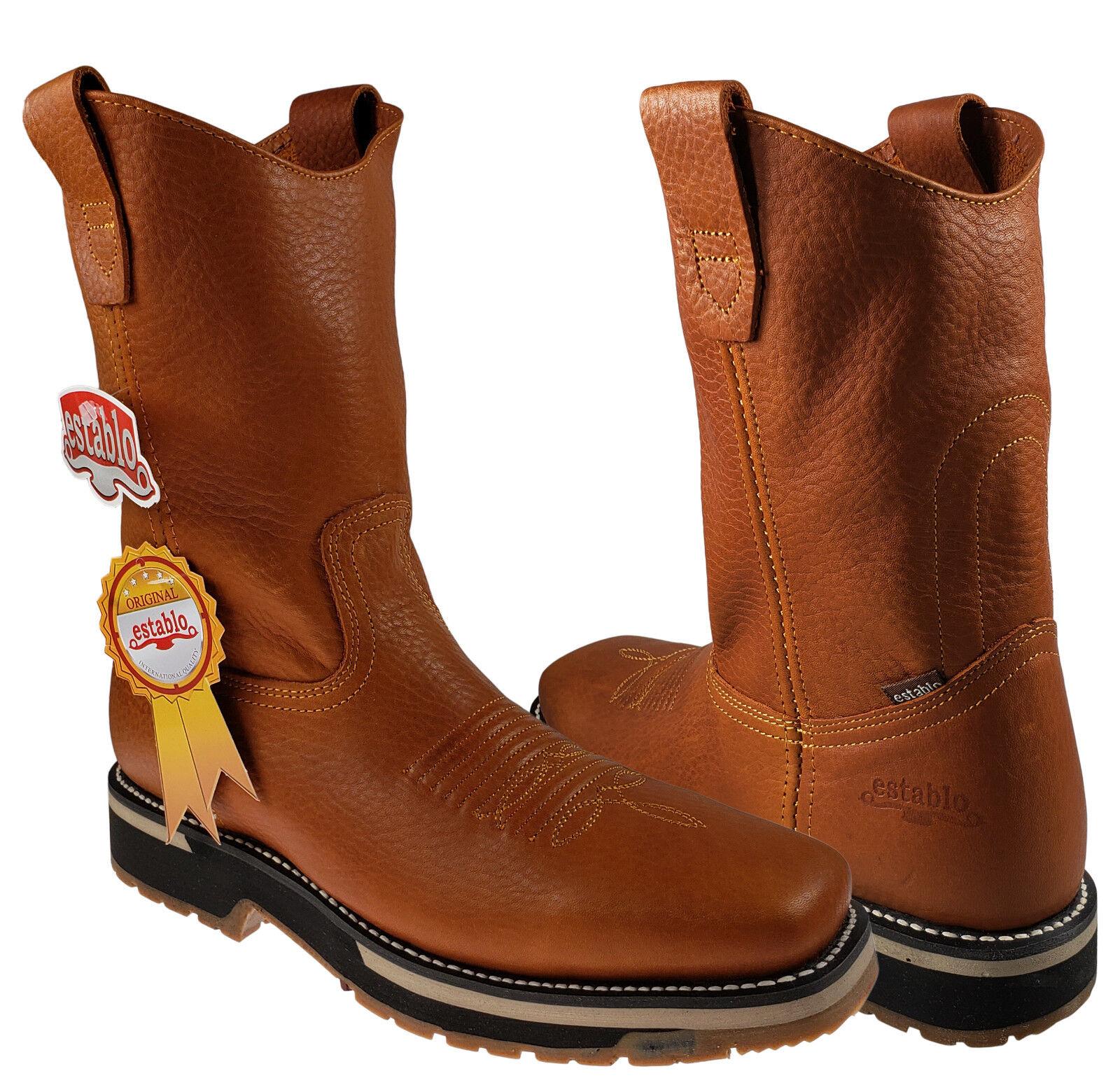 De travail hommes Rodeo bottes Establo cuir véritable Couleur miel Bull Fight