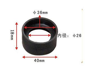 Caoutchouc-pliable-microscope-oculaire-Eyecup-36-mm-Diametre-interieur-Eye-Guards-2-pieces