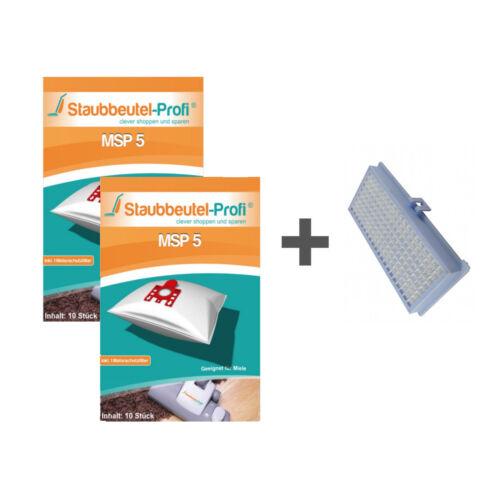20 Staubsaugerbeutel + HEPA-Filter geeignet für Miele S 548