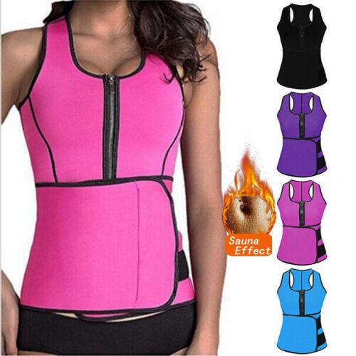 Womens Fajas Sweat Sauna Body Shaper Slimming Vest Thermo Neoprene Waist Trainer
