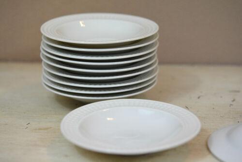 Hutschenreuther unbekannte Serie Teller 10,6cm uni weiß 3 facher Perlrand