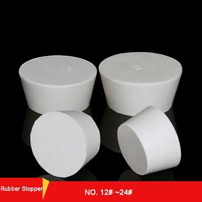 12#-24# Rubber Stopper Erlenmeyer Flask Plug Test Tube Sealing Bungs 51mm-131mm